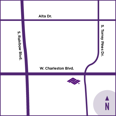 location map for Charleston Healthcare Center
