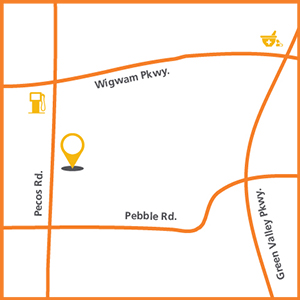 Location map for OptumCare Primary Care at Pecos