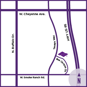 Location map of Tenaya Healthcare Center